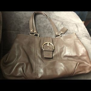 All leather brown Coach bag